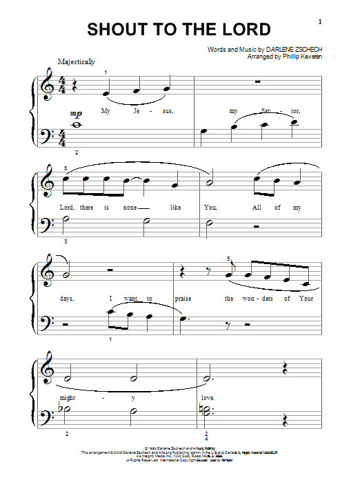 Shout To The Lord | Sheet Music Direct