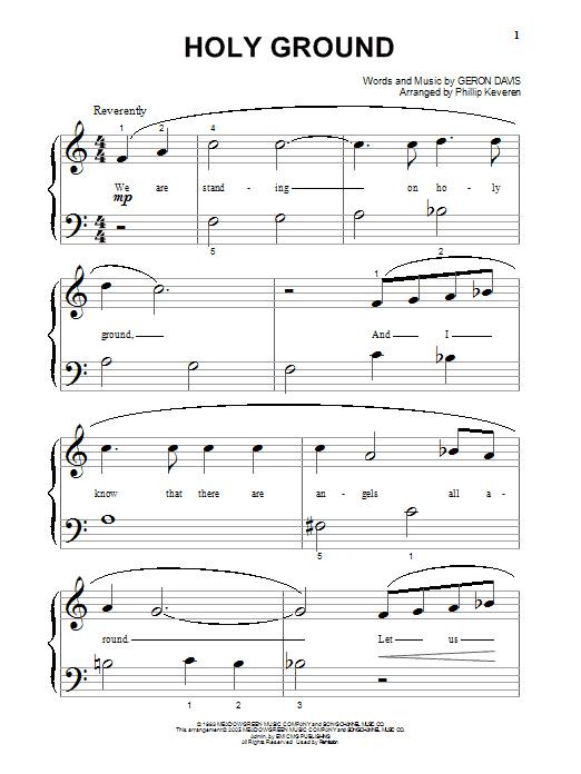 Holy Ground (Big Note Piano)