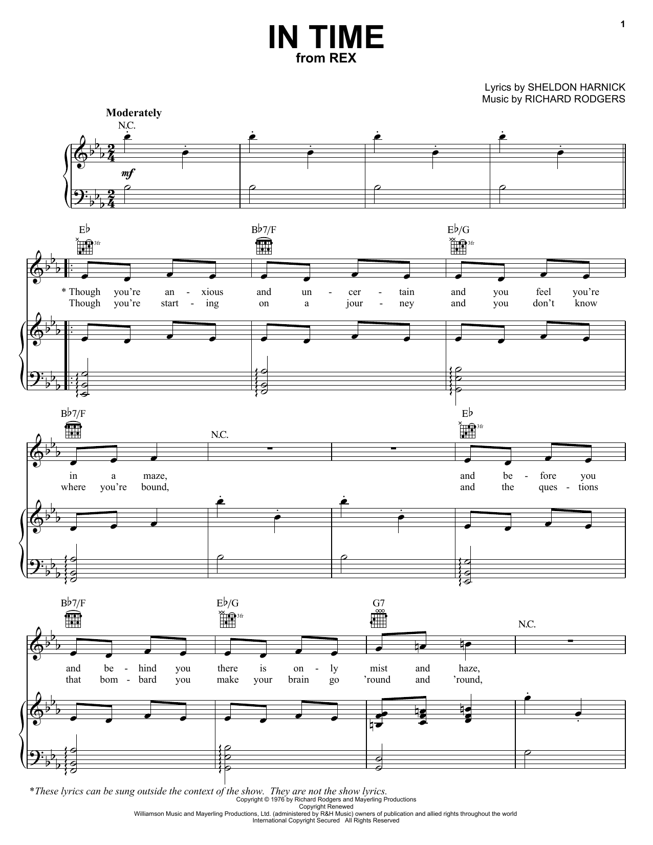 In Time Sheet Music