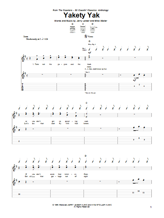 Yakety Yak Sheet Music