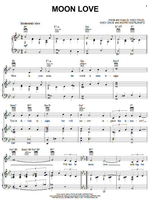 Moon Love Sheet Music
