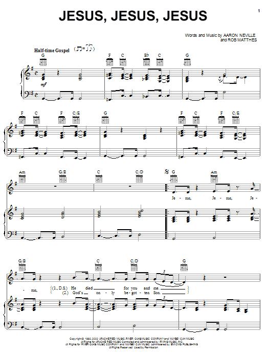 Jesus, Jesus, Jesus Sheet Music