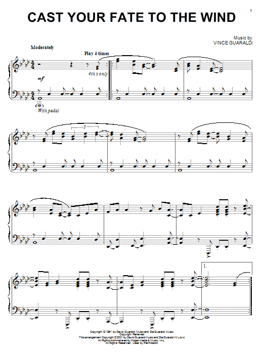 Cast Your Fate To The Wind (Piano Solo)