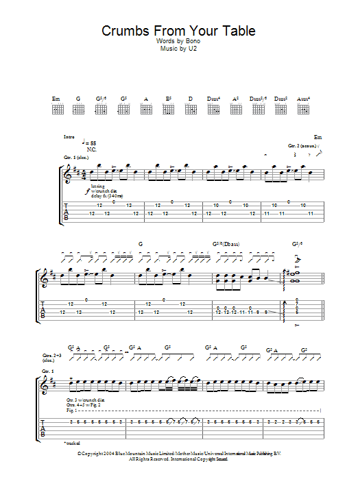 Crumbs From Your Table Sheet Music