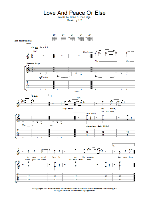 Love And Peace Or Else (Guitar Tab)