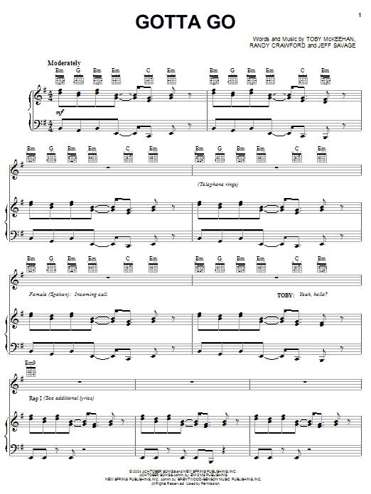 Gotta Go (Piano, Vocal & Guitar (Right-Hand Melody))