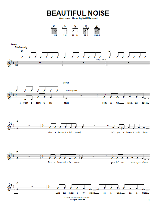 Beautiful Noise Sheet Music