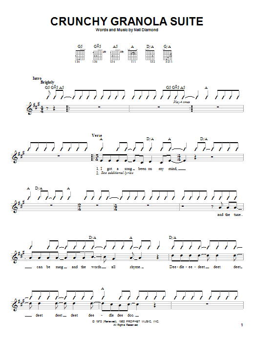 Crunchy Granola Suite Sheet Music