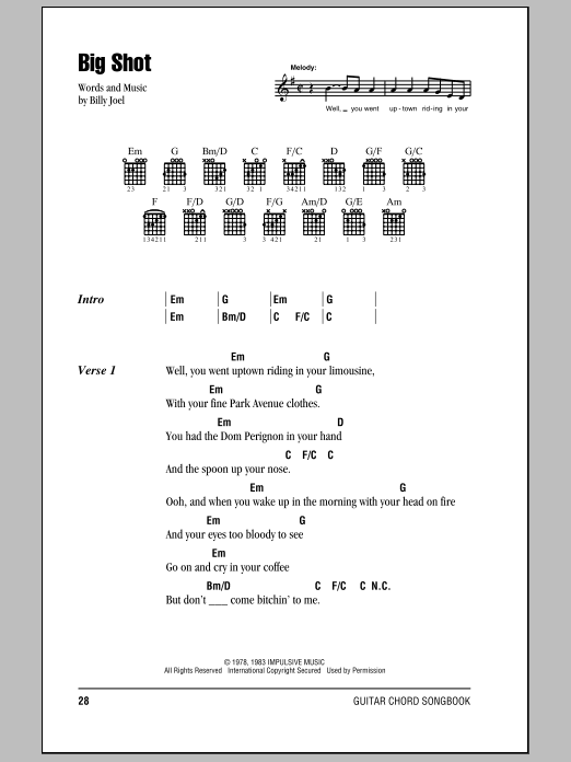 Big Shot Sheet Music
