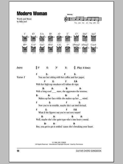 Modern woman billy joel lyrics