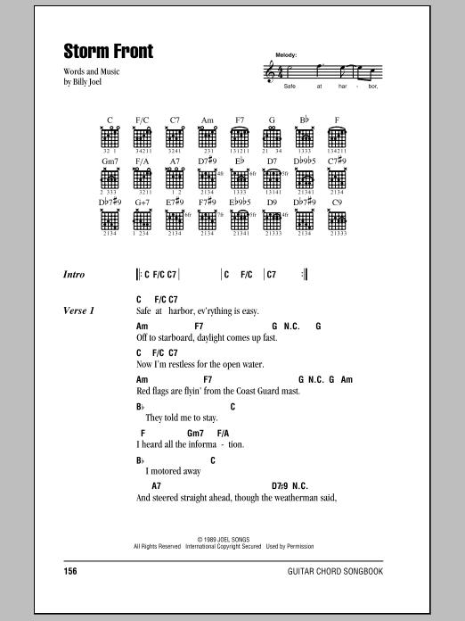 Storm Front Sheet Music