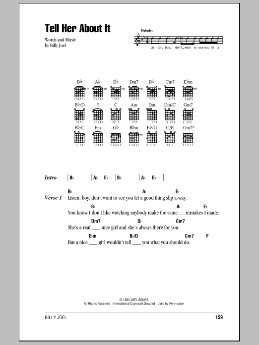 Tell Her About It Sheet Music