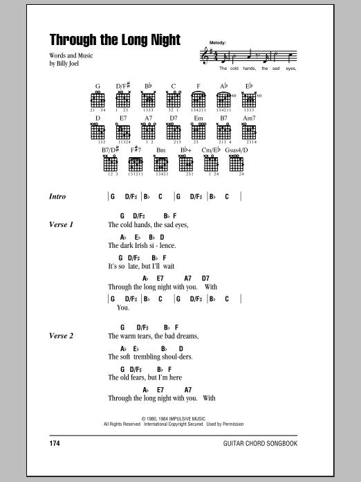 Through The Long Night Sheet Music