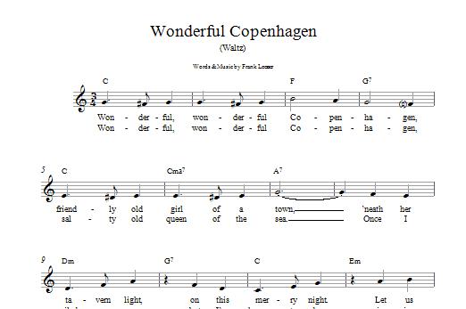 Wonderful Copenhagen Sheet Music
