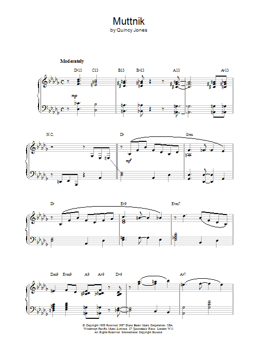 Muttnik Sheet Music