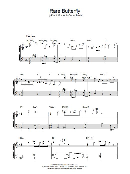 Rare Butterfly Sheet Music