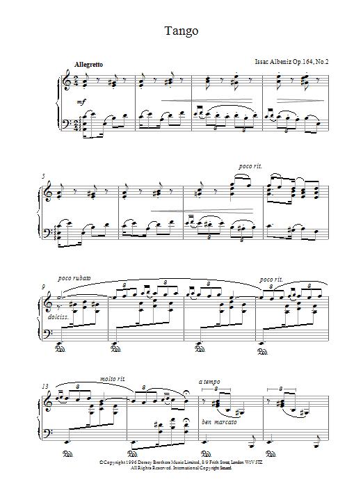 Tango Op.164 No.2 Sheet Music