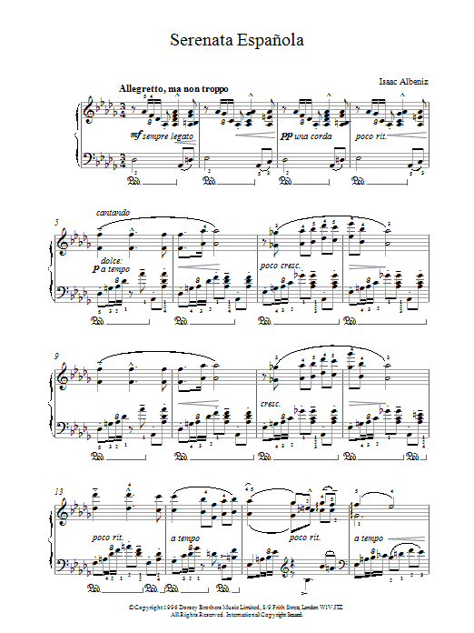 Serenata Espanola Sheet Music