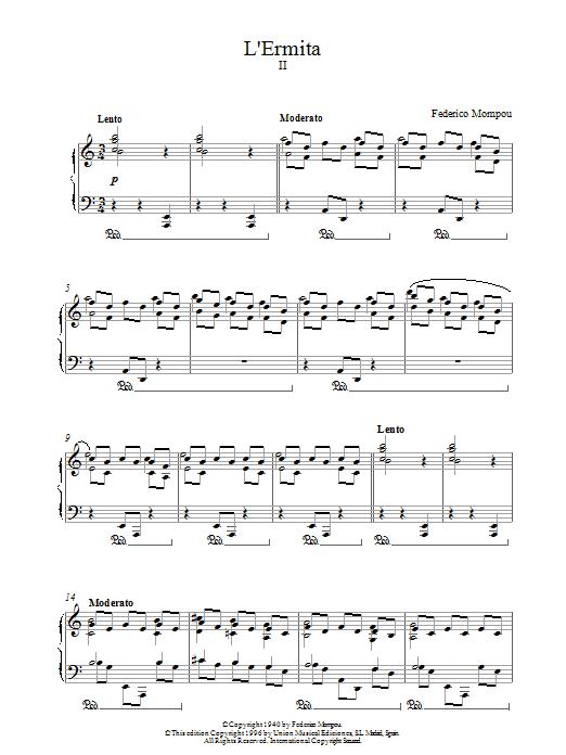 L'ermita Sheet Music