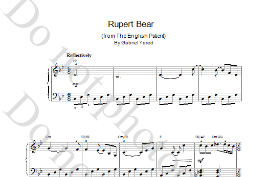 Rupert Bear (from The English Patient) Sheet Music