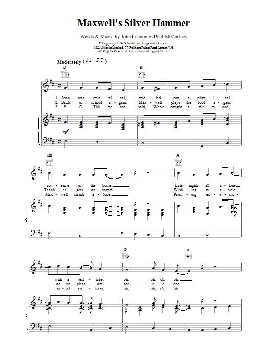 Maxwell's Silver Hammer Sheet Music