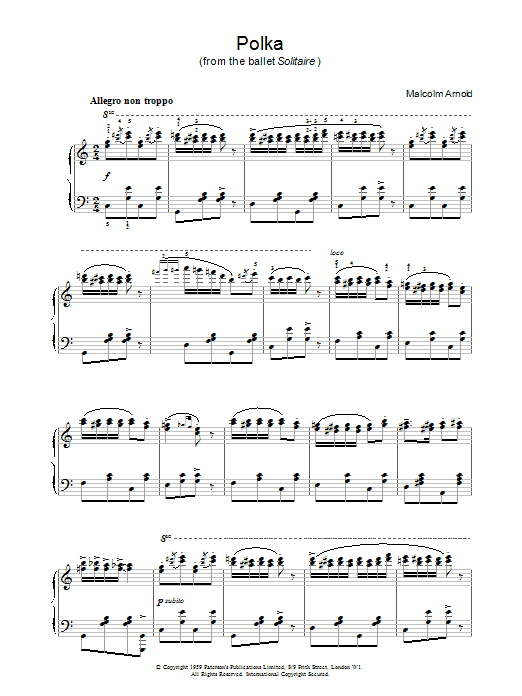 Polka from Solitaire Sheet Music
