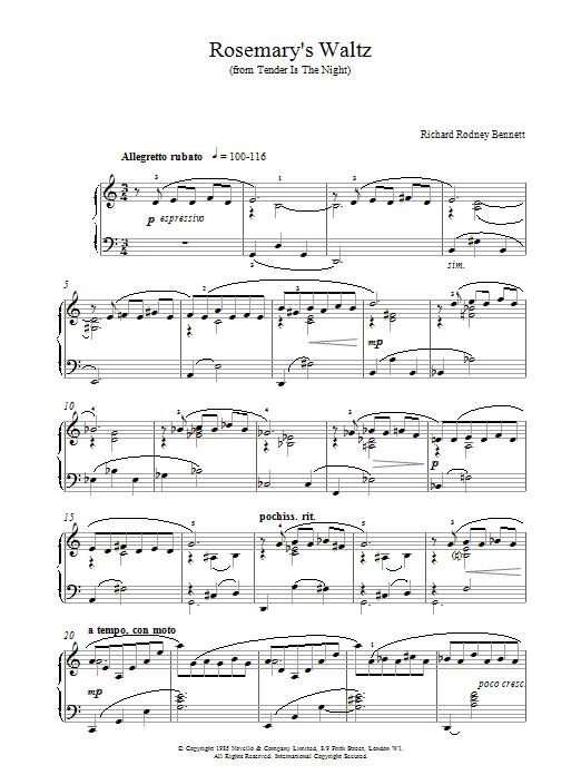 Rosemary's Waltz Sheet Music