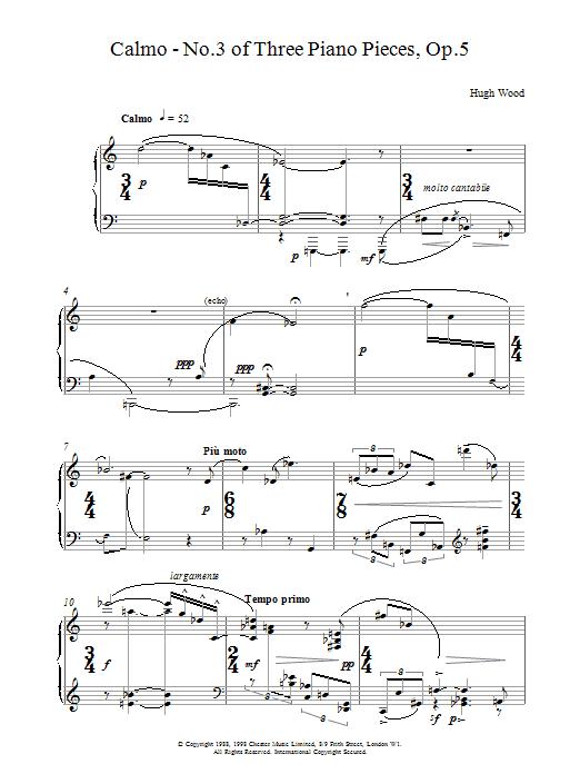 Calmo Op.5 Sheet Music