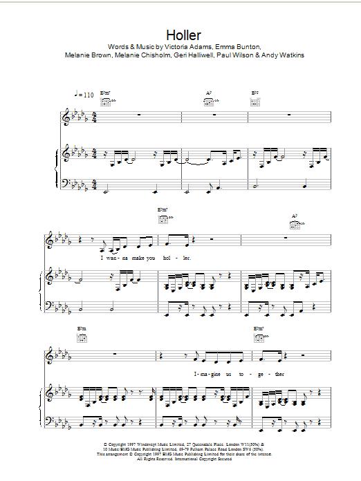 Holler Sheet Music