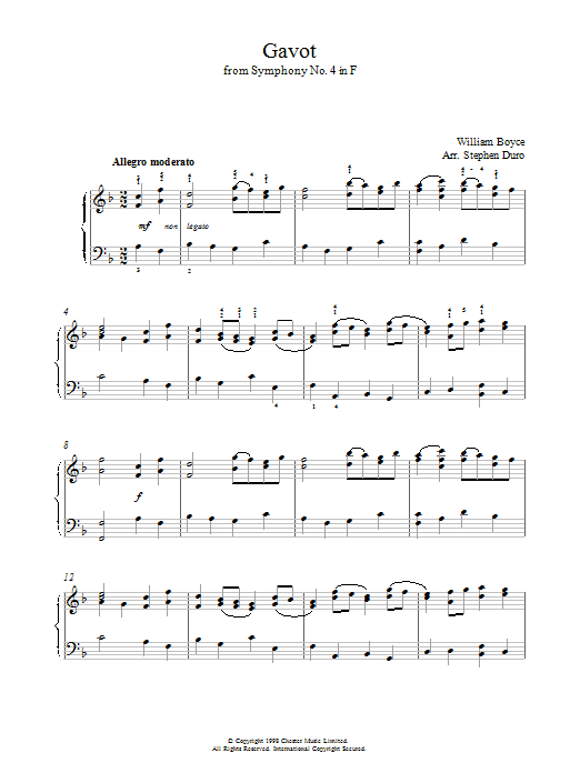 Gavot Sheet Music