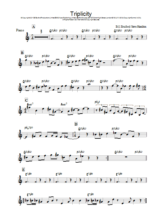 Triplicity Sheet Music
