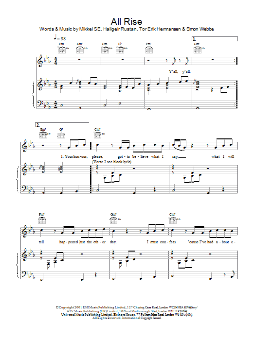 All Rise Sheet Music