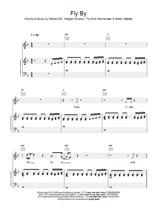Fly By Sheet Music