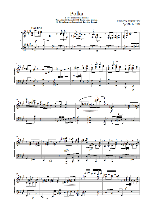 Polka, Op.5 No.1a Sheet Music