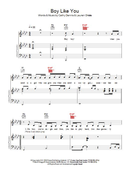 Boy Like You (Piano, Vocal & Guitar)