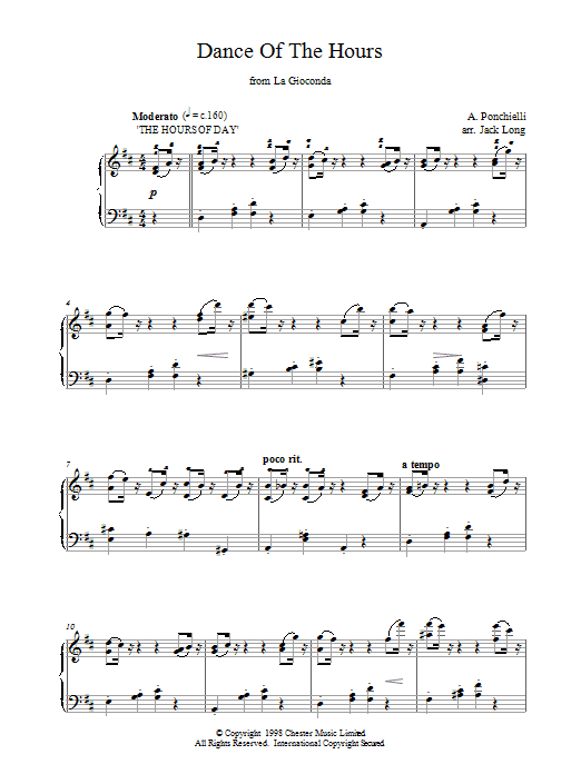 Dance Of The Hours (from La Gioconda) Sheet Music