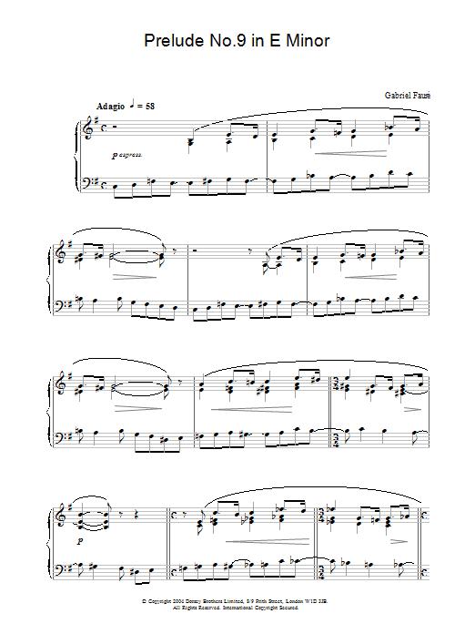 Prelude No.9 in E Minor (Piano Solo)