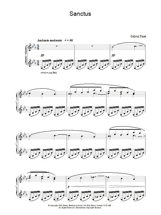 Sanctus (Piano Solo)