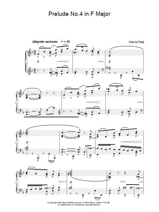 Prelude No.4 in F Major (Piano Solo)