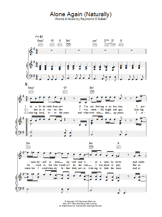 Alone Again Naturally Sheet Music To Download