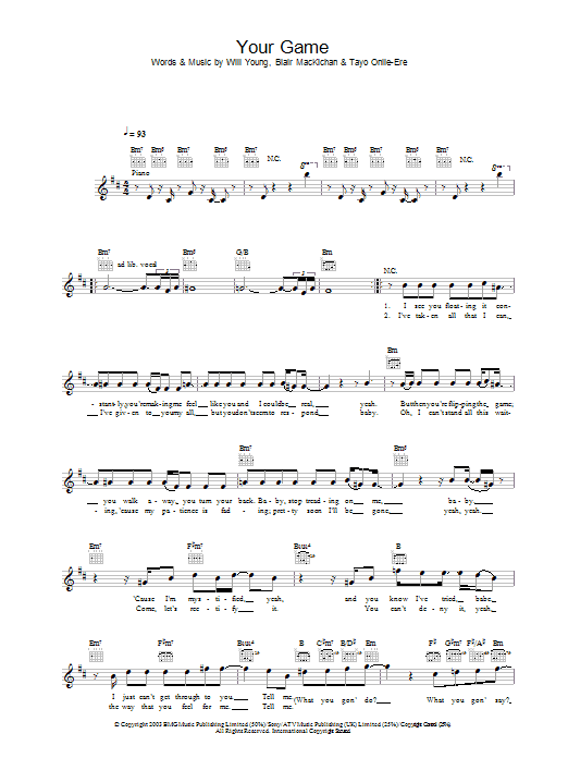 Your Game Sheet Music