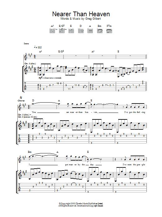 Nearer Than Heaven (Guitar Tab)
