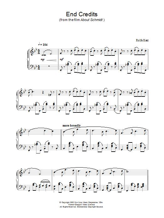 End Credits (Piano Solo)