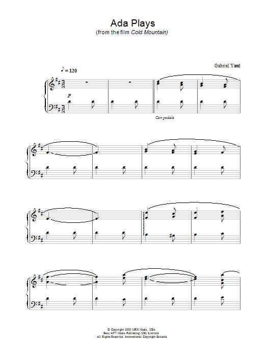 Ada Plays (Piano Solo)