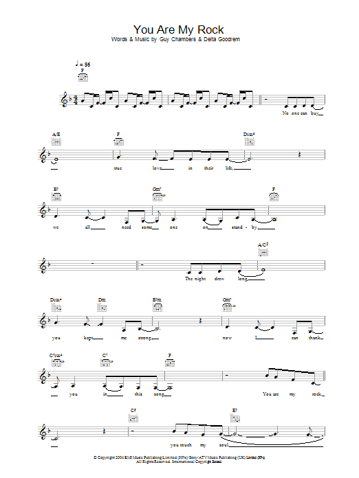 You Are My Rock Sheet Music