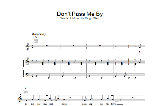 Don't Pass Me By Sheet Music