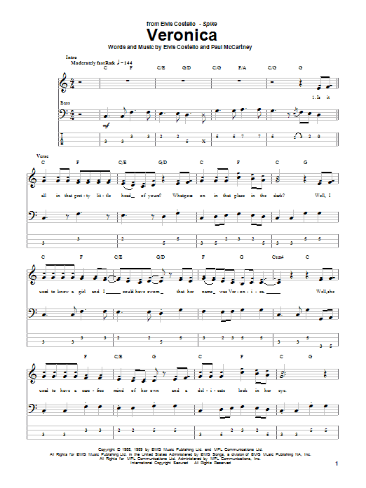 Veronica Sheet Music