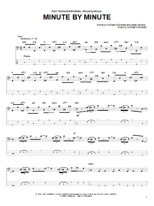 Minute By Minute Sheet Music