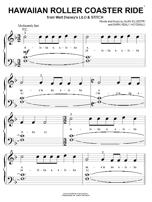 Hawaiian Roller Coaster Ride Sheet Music
