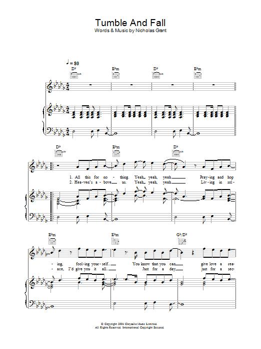 Tumble And Fall Sheet Music